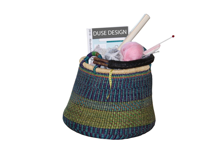 Kurv og strikketøj - Kirsten Døssing