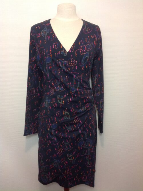 Jersey kjole med lange ærmer