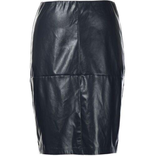 imiteret læder nederdel