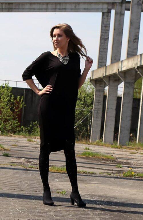 kjoler, sort kjole med ærmer