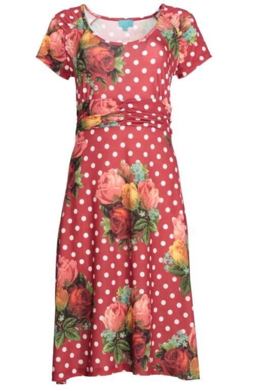 polkaprikket kjole