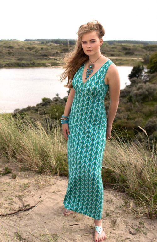 lang jersey kjole