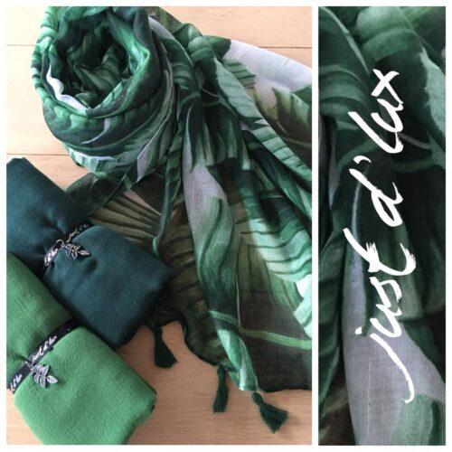 Grønt tørklæde