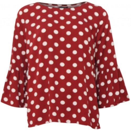 Dyb rød bluse