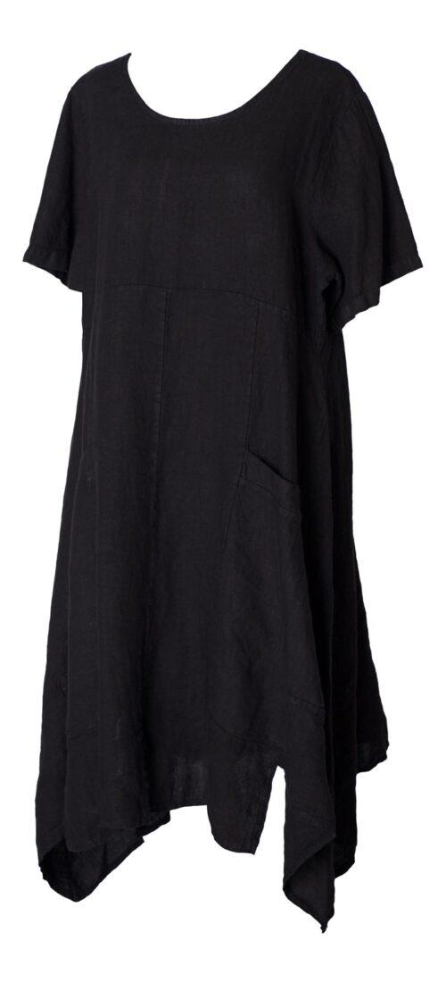 sort hørkjole
