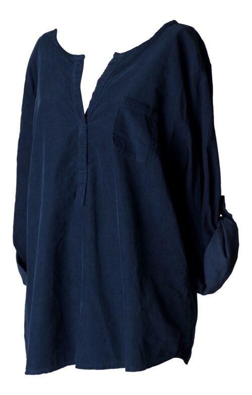 blå fløjlsskjorte