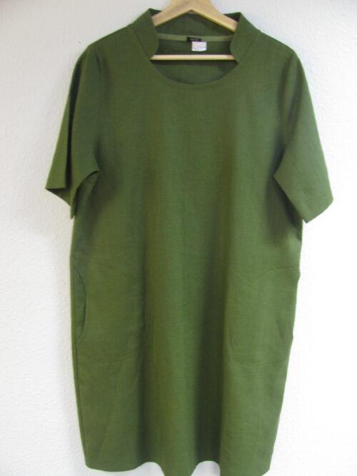 Grøn hørkjole