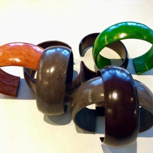 Tuareg læder armbånd