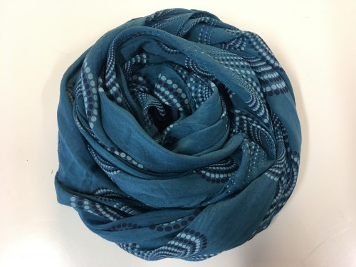 blå tørklæde