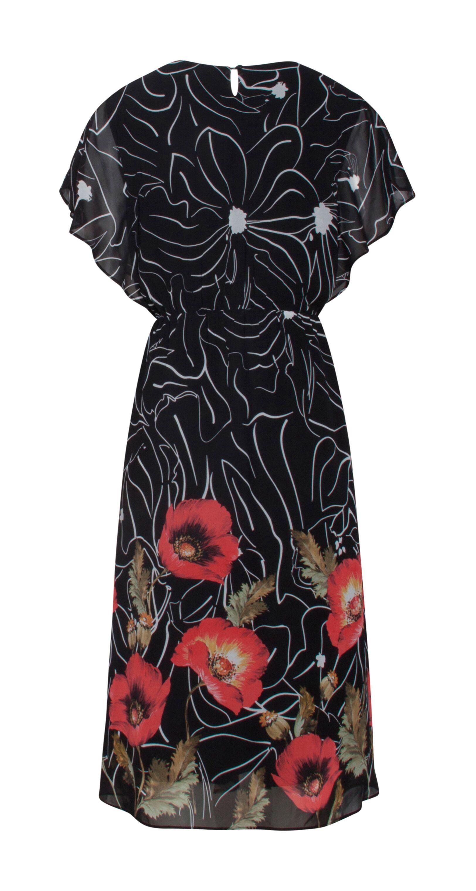 e18eae5b Smashed Lemon kjole i let stof   Festkjole med print af røde blomster
