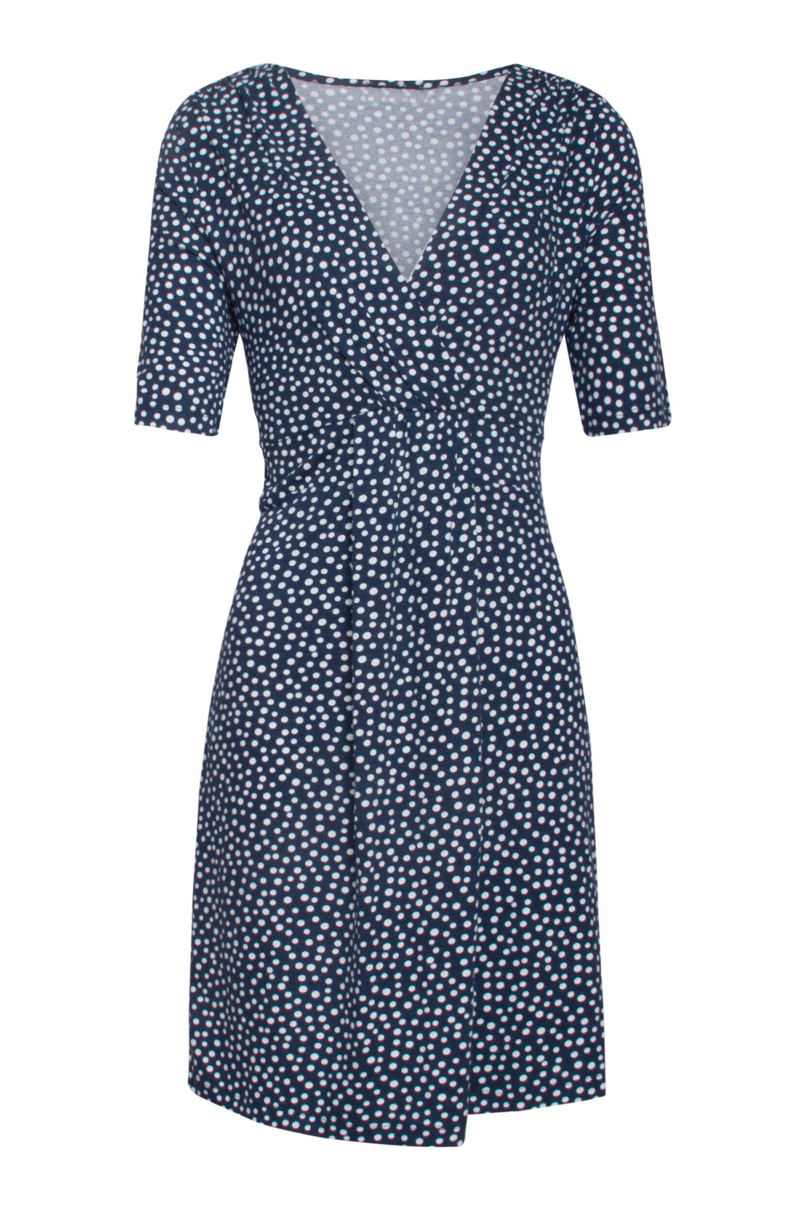 3ff85d4c26d4 Blå kjole med prikker