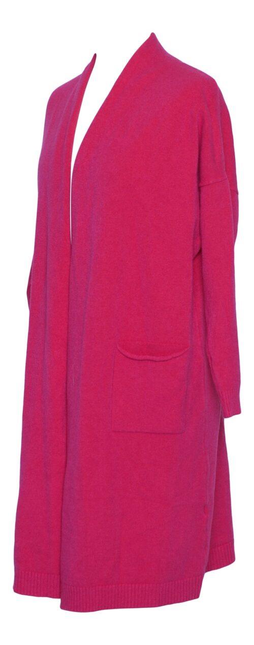strik cardigan pink