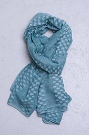 vaflet tørklæde aqua