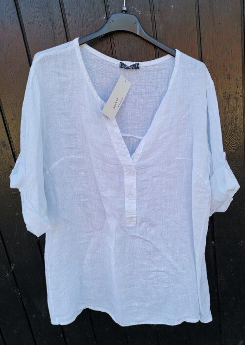 tynd hørskjorte hvid