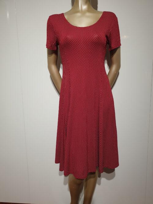 Smashed Lemon rød kjole med prikker