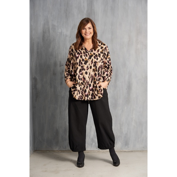 gozzip bluse leopard printed