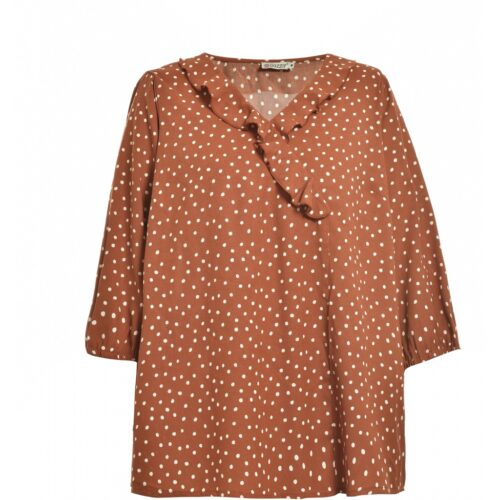 efterårsbrun gozzip bluse