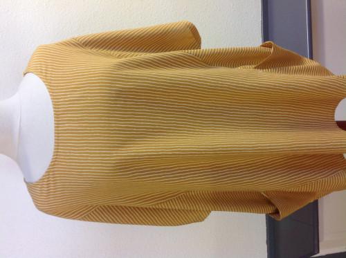 viskose bluse gul med striber