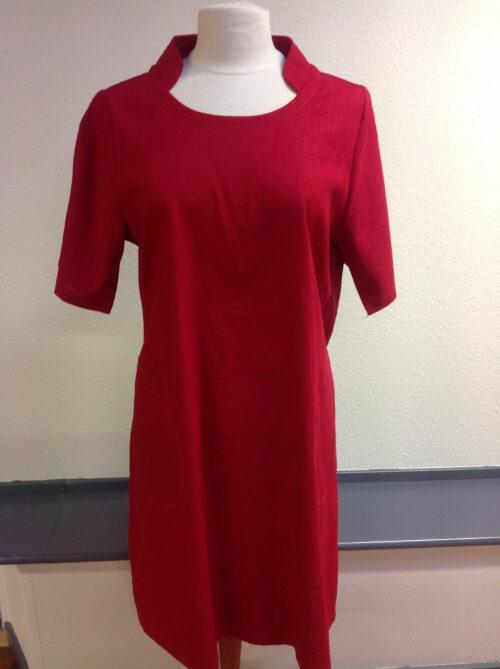 Rød Dagmar hørkjole