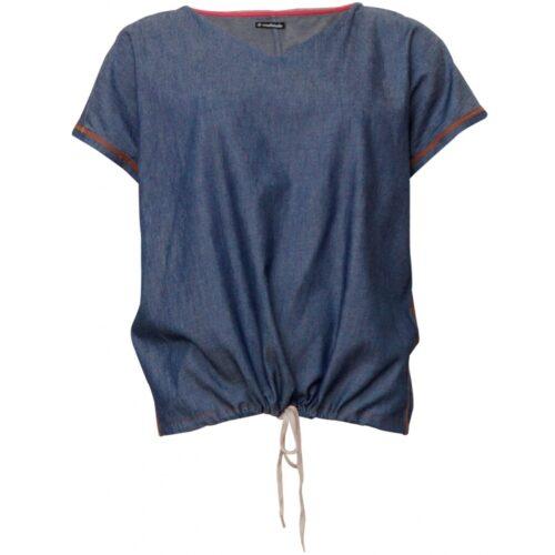 Soulmate bluse denim blue