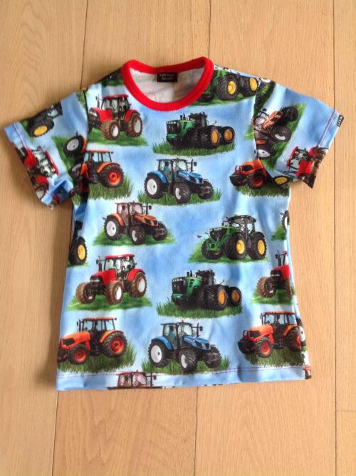 Børne T-shirt med traktorer