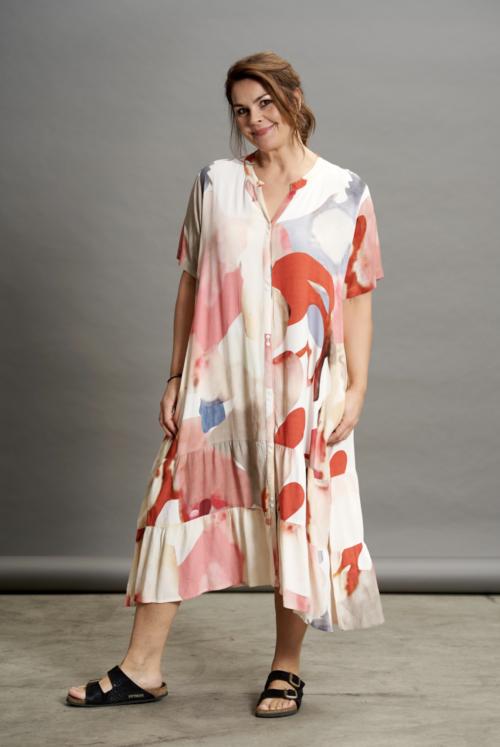 gozzip kjole rødlig printed