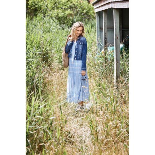 soulmate kjole lang lyseblå