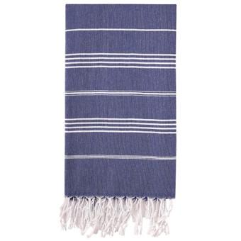 Blå Hammam badehåndklæde