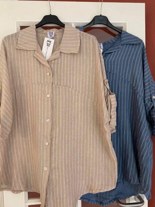 oversize hør skjorte fra stajl