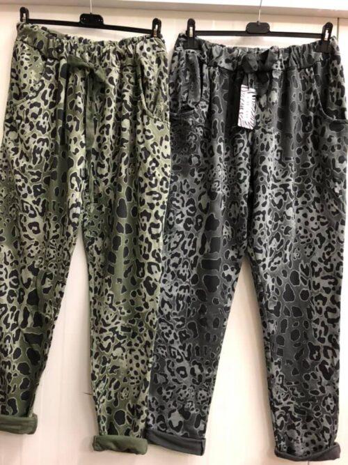 Bukser med leopard print