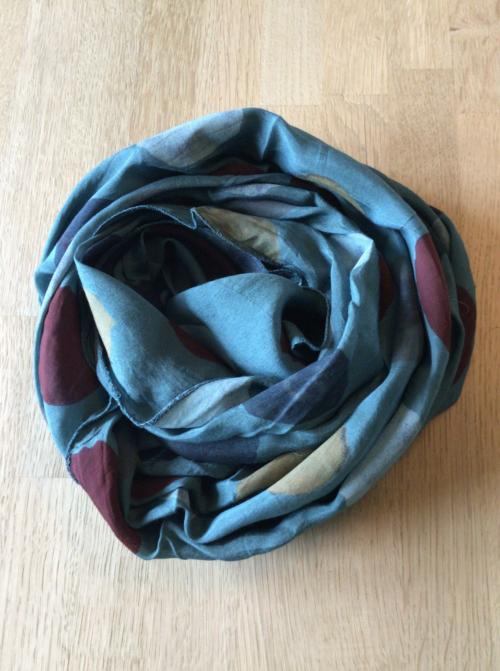 tørklæde i silke og bomuld grøn