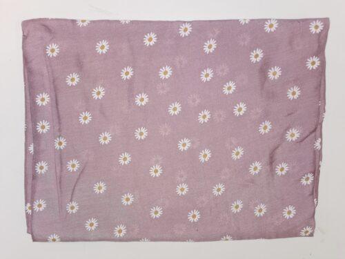 tørklæde i marguerit mønster rosa