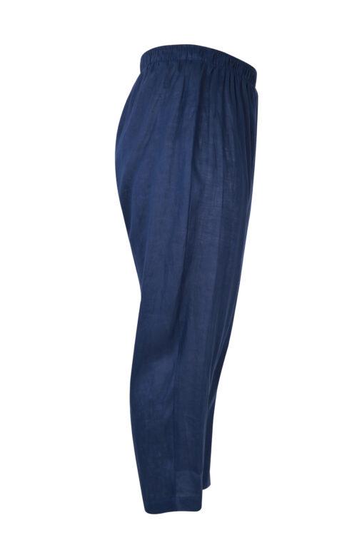 blå harems bukser i hør