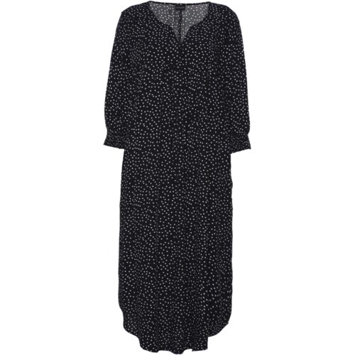 Gozzip kjole sort med hvide prikker