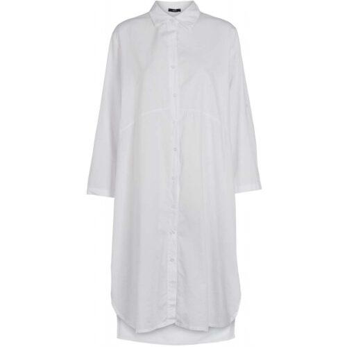 Drys lang hvid skjorte