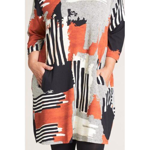 Gozzip kjole med kunstprint