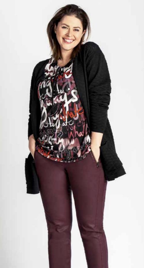 Kj Brand bluse med tekst print