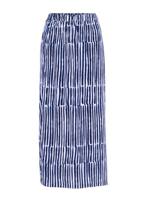 Micha nederdel med blå striber