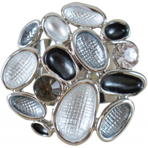Fingerring i rustfrit stål sølvfarvet