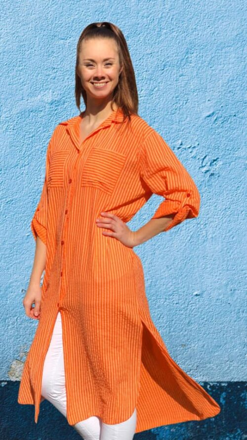 Lang skjorte i orange