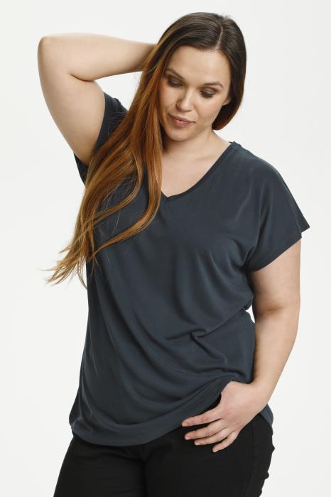 Kaffe curve Lina t-shirt blå