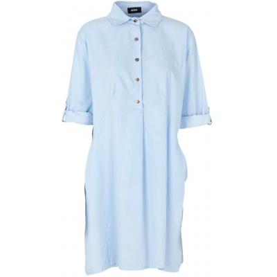 Lyseblå skjorte i babyfløjl