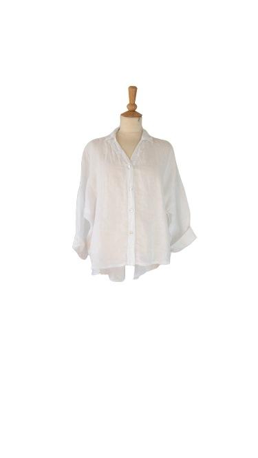 Janne K skjortejakke i hør hvid