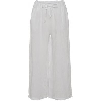 Stajl hvide hør bukser