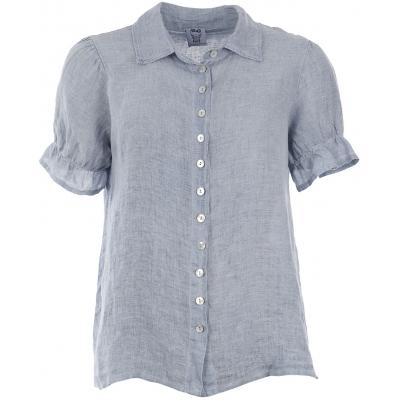 Stajl denim blå hør skjorte
