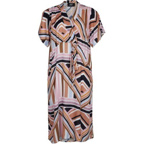 Zoey lang kjole med korte ærmer
