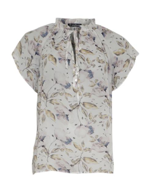 Hvid Soulmate bluse med blomster