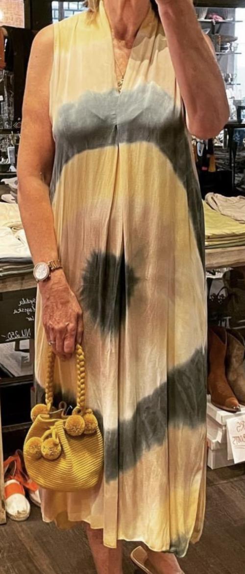 Batikfarvet Stajl kjole